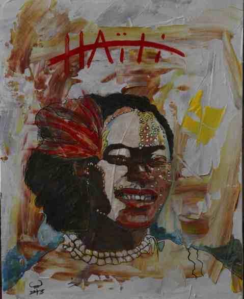 Vagabond Artist Images of Haiti--Carnaval Lady
