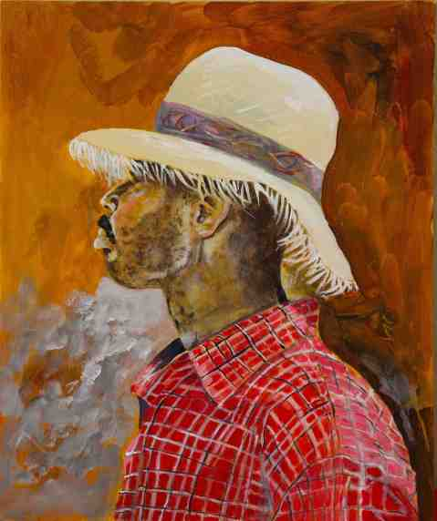 Vagabond Artist Images of Haiti--Man in Fringe Hat