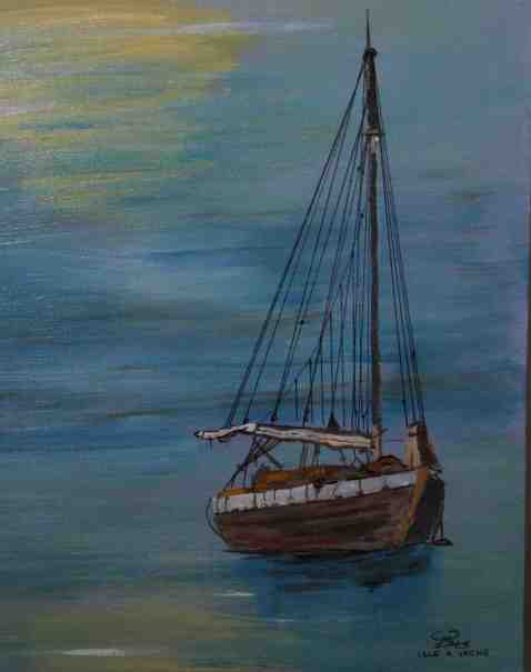 Vagabond Artist Images of Haiti--Isle a Vache sail craft