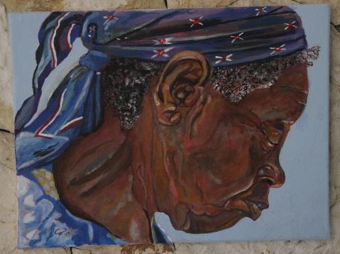 Vagabond Artist Images of Haiti--Market Lady