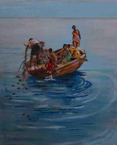 Vagabond Artist Images of Haiti--Isle a Vache Fishermen