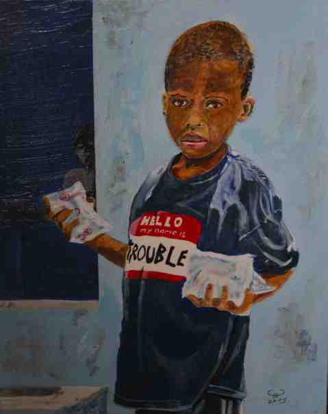 Vagabond Artist Images of Haiti--Lost Boy (2013)