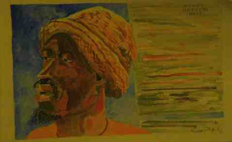 Vagabond Artist Images of Haiti--Heavy Hatter
