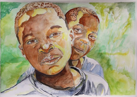 Vagabond Artist Images of Haiti--St. Marc Boys