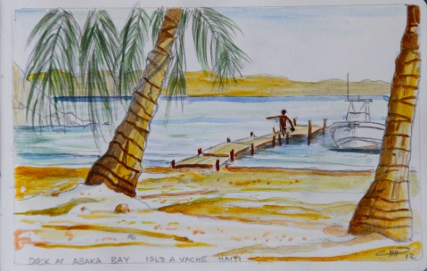 Vagabond Artist Images of Haiti--Abaka Bay Dock