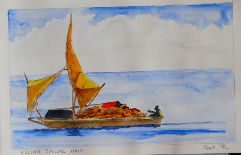 Vagabond Artist Images of Haiti--Kaliko Sailor